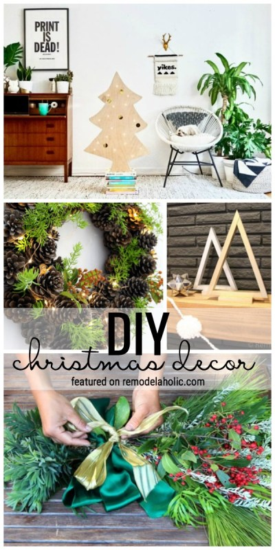 Create A Festive Holiday Home With These Beautiful And Simple DIY Christmas Decor Ideas Featured On Remodelaholic.com