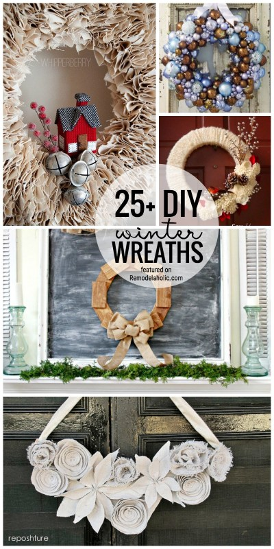 Brighten Up Your Door For Winter With One Of These 25+ DIY Winter Wreaths Featured On Remodelaholic.com