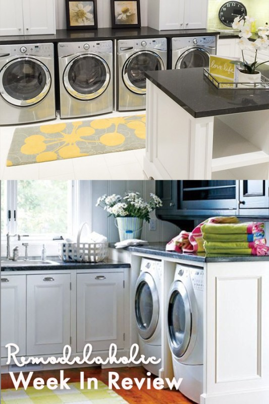 Double Washer And Dryer Yes Please! 100 Great Laundry Room Ideas + 5 Tips To Make Doing Laundry Less Of A Chore