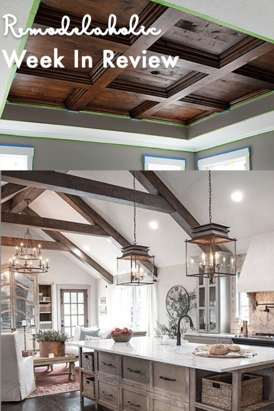 Painting On A Whim, A Painted Ceiling Pattern In The Entry DIY Master Bedroom Wood Coffered Ceiling