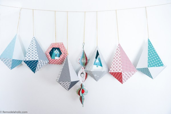 Diy Printable Paper Ornaments To Fold And Decorate For Christmas And Winter #remodelaholic (7)