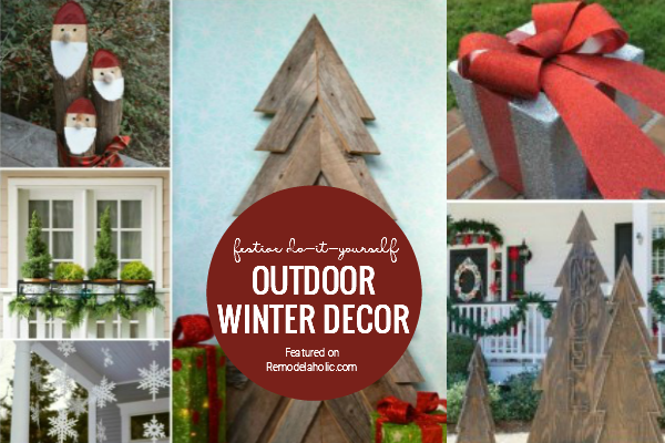 DIY Outdoor Winter Decor Featured On Remodelaholic
