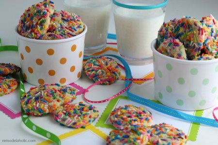 Homemade Rainbow Sprinkle Funfetti Cookie Recipe From Scratch #remodelaholic