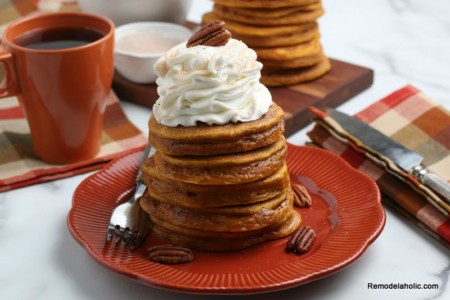 Homemade Pumpkin Pancakes From Scratch, Recipe Remodelaholic
