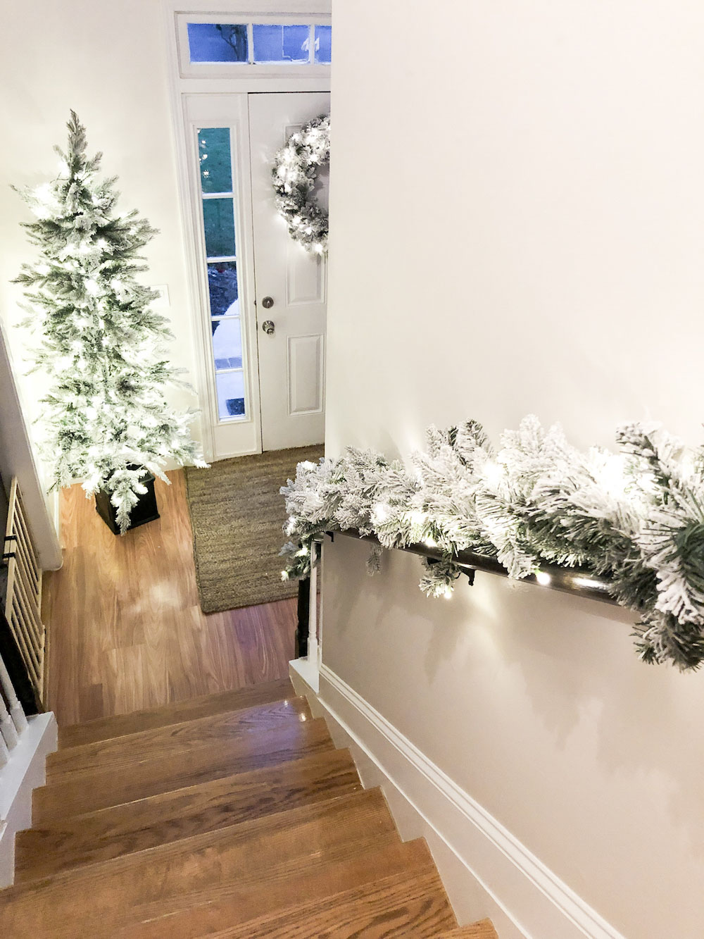 Holiday Greenery on Display in our Entryway
