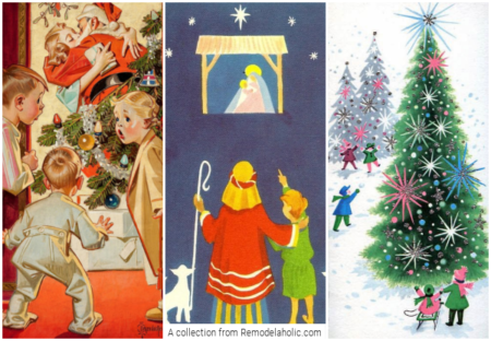 Free To Print Vintage Christmas Images, A Collection From Remodelaholic