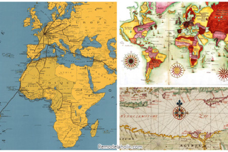 Vintage Maps To Print For Free, A Collection From Remodelaholic