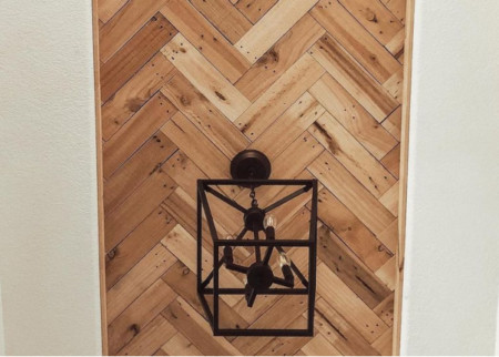 Feature Diy Herringbone Pallet Wood Ceiling Tutorial For Inset Tray Ceiling, Home Kimprovements On Remodelaholic (1)